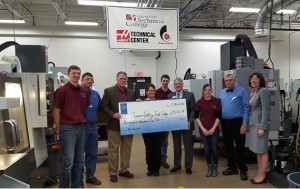 Productivity Presents Gene Haas Foundation Check to Chippewa Valley Tech College