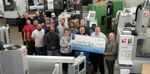 Productivity Presents Gene Haas Foundation Check to Dunwoody Tech College